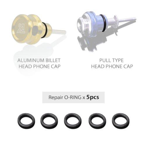 補修品:Oリングx10pcs アルミビレットヘッドフォンキャップ用