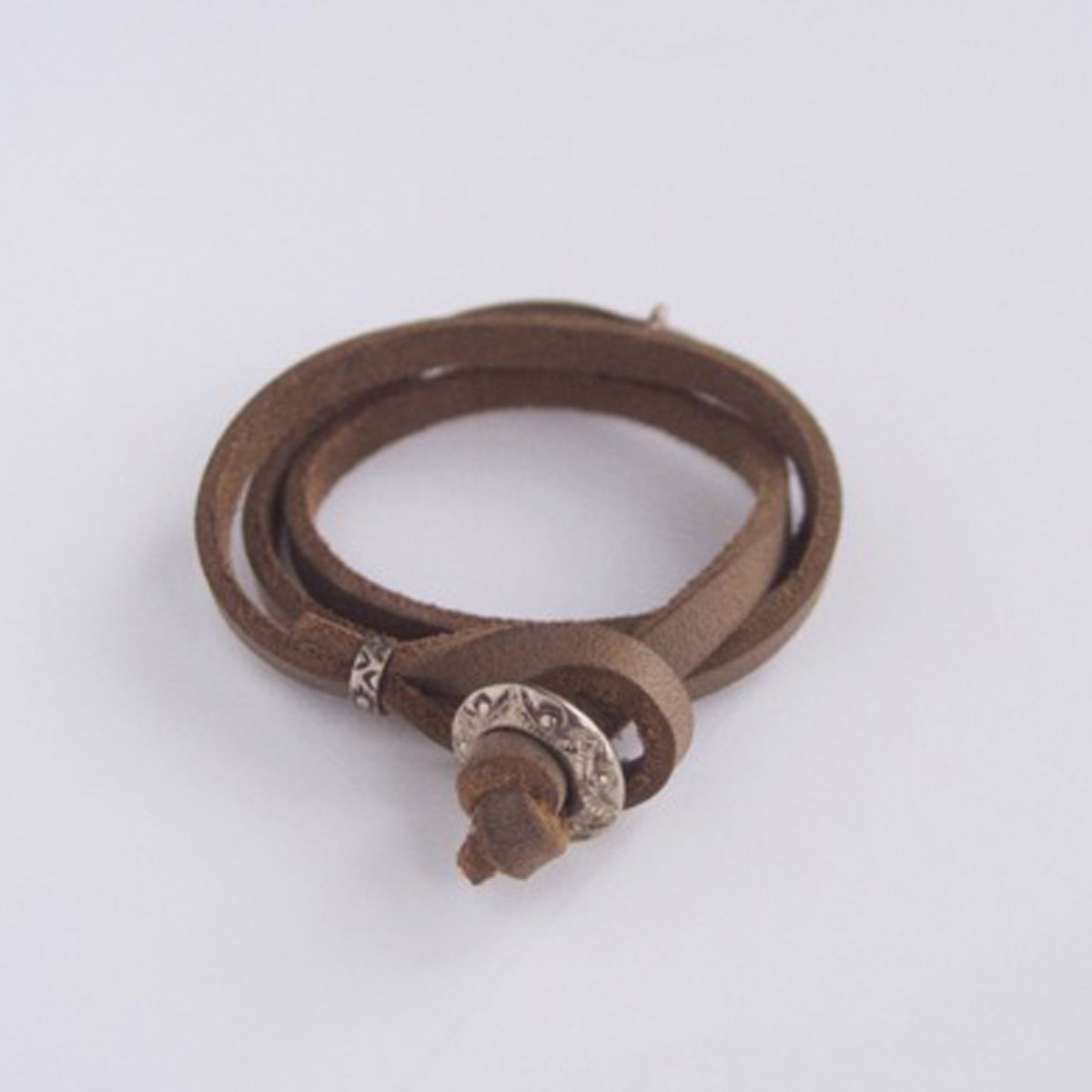MOTO CONTEMPORARY NATIVE 3連LEATHER BRACELET (NATURAL)