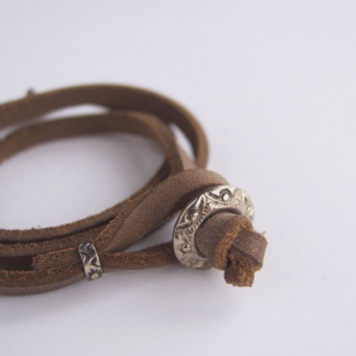 MOTO CONTEMPORARY NATIVE 3連LEATHER BRACELET (NATURAL)3