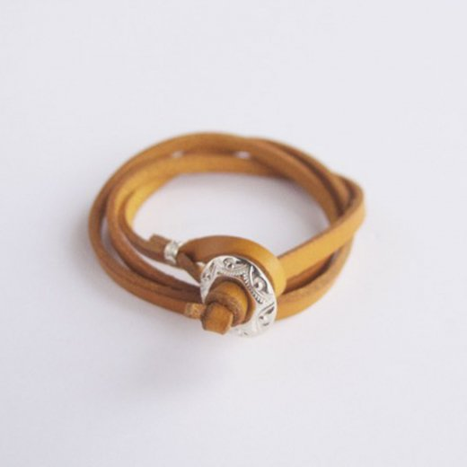 3連LEATHER BRACELET (YELLOW)