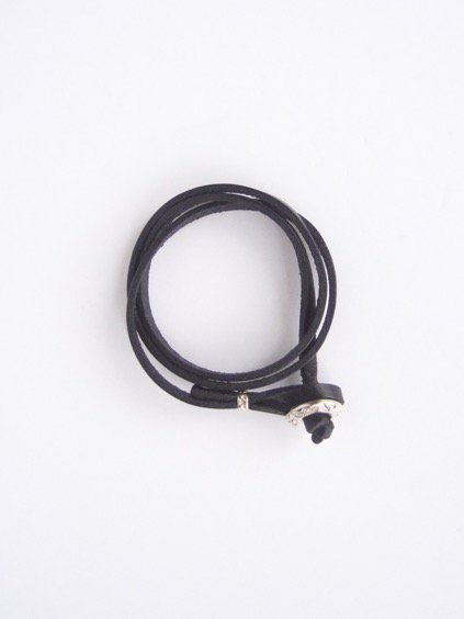 MOTO CONTEMPORARY NATIVE 3連LEATHER BRACELET (BLACK)2