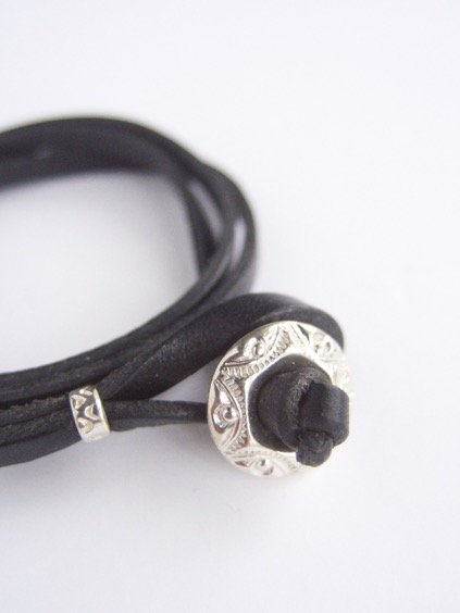 MOTO CONTEMPORARY NATIVE 3連LEATHER BRACELET (BLACK)3