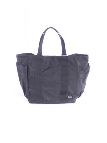 hobo Ripstop Nylon Tote Bag (BLACK)