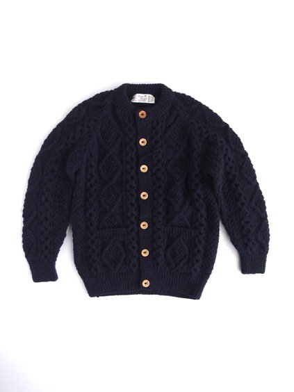 ATHENA DESIGN FISHERMAN SWEATER ALAN KNIT(NAVY)