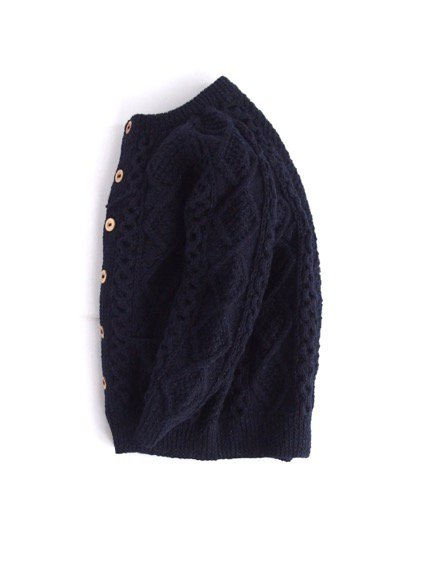 ATHENA DESIGN FISHERMAN SWEATER ALAN KNIT(NAVY)2