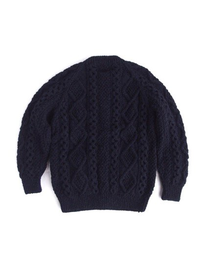 ATHENA DESIGN FISHERMAN SWEATER ALAN KNIT(NAVY)3