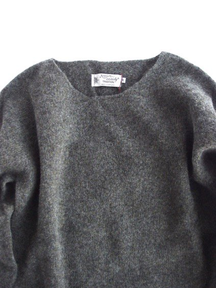 Nor' easterly L/S WIDE NECK KNIT (GRANITE)2