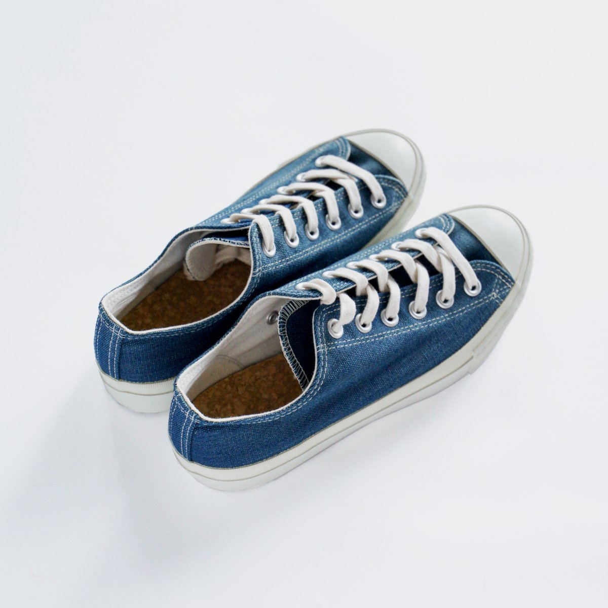 DOEK CANVAS SNEAKER 'BASKET' (NAVY)4