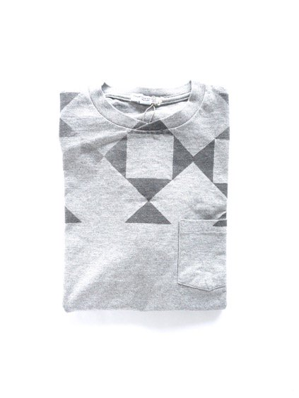 Engineered Garments Printed T-shirt -DIAMOND-  (GREY)