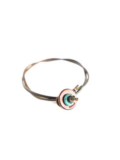 MOTO 2連LEATHER ANKLET  (GREEN)