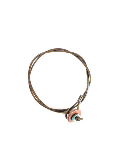MOTO 2連LEATHER ANKLET  (GREEN)2