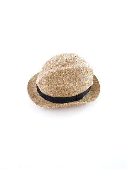 mature ha. BOXED HAT 4.5cm brim grosgrain ribbon (Mix Brown×Black)