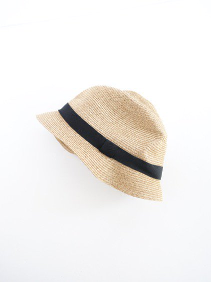 mature ha. BOXED HAT 4.5cm brim grosgrain ribbon (Mix Brown×Black)2