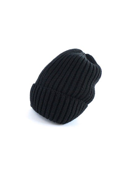 mature ha. Knit cap linen (Black)(Greige)3