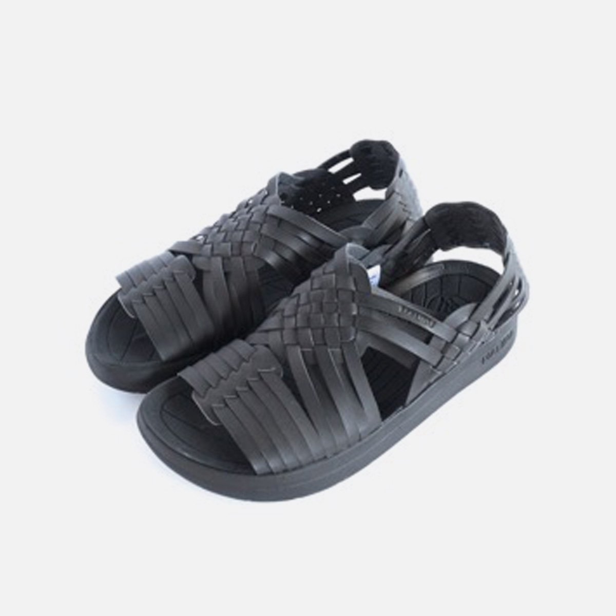 MALIBU SANDALS VEGAN LEATHER CANYON (BLACK&BLACK)2