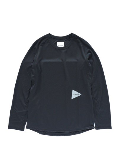 and wander dry jersey raglan long sleeve T (Black)