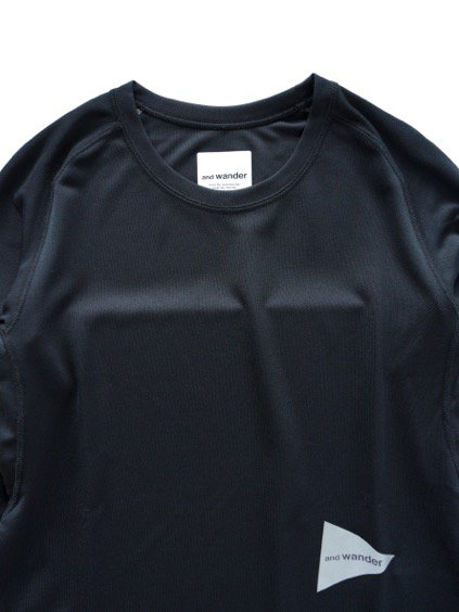 and wander dry jersey raglan long sleeve T (Black)2