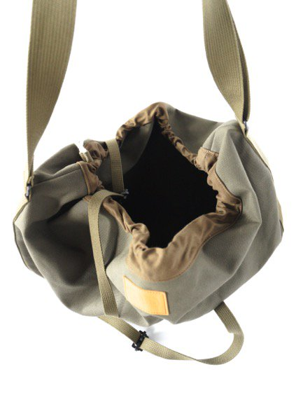 hobo Round Shoulder Bag (OLIVE)3