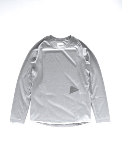 and wander dry jersey raglan long sleeve T (L.gray)
