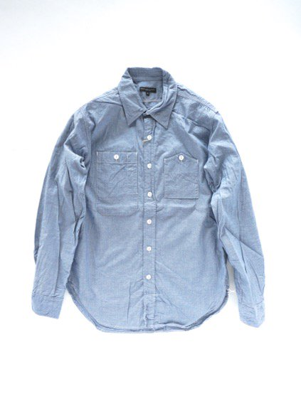Engineered Garments Work Shirt - Cotton Chambray - (LT.BLUE)