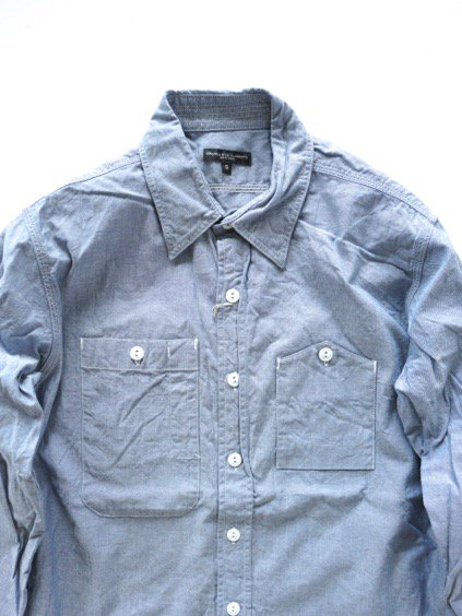 Engineered Garments Work Shirt - Cotton Chambray - (LT.BLUE)2