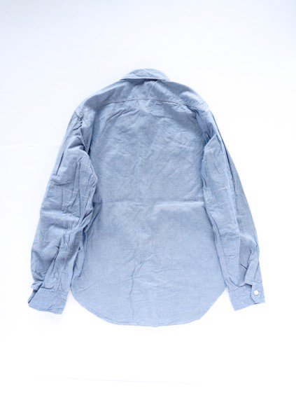 Engineered Garments Work Shirt - Cotton Chambray - (LT.BLUE)4
