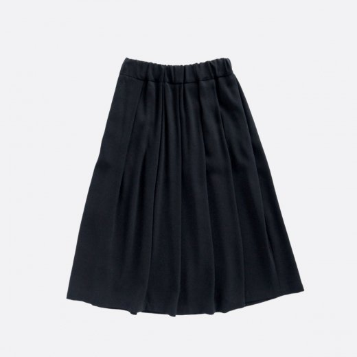 ACETATE & POLYESTER  DOUBLE CLOTH SKIRT