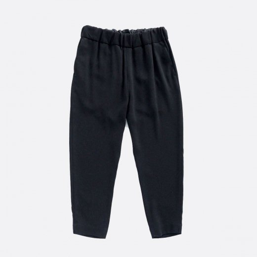 ACETATE & POLYESTER DOUBLE CLOTH TAPERED EASY PANTS