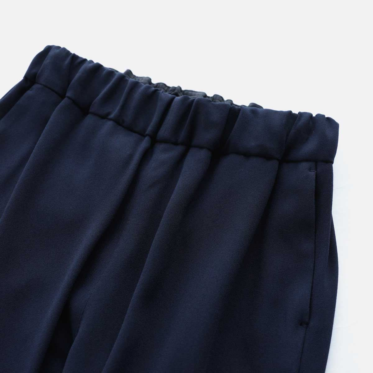 NO CONTROL AIR ACETATE & POLYESTER DOUBLE CLOTH TAPERED EASY PANTS (navy)3