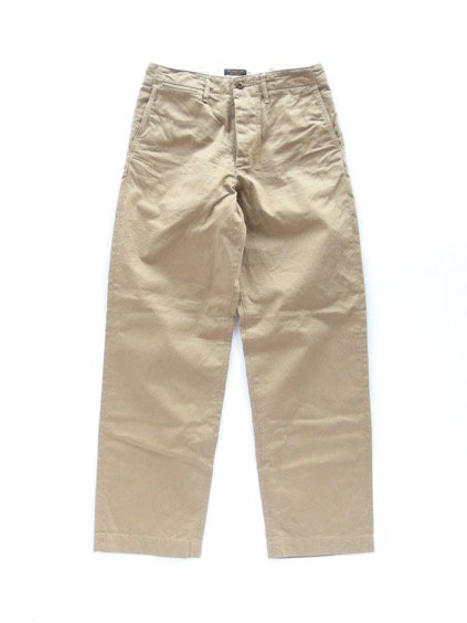 A VONTADE TYPE45 CHINO TROUSERS -WIDE FIT- (BEIGE)