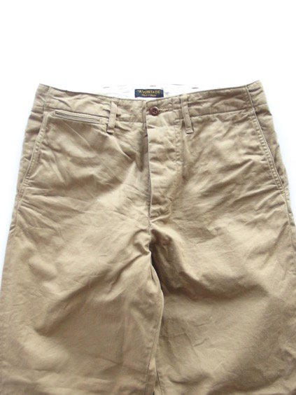 A VONTADE TYPE45 CHINO TROUSERS -WIDE FIT- (BEIGE)2