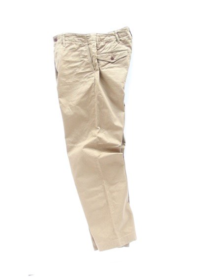 A VONTADE TYPE45 CHINO TROUSERS -WIDE FIT- (BEIGE)3