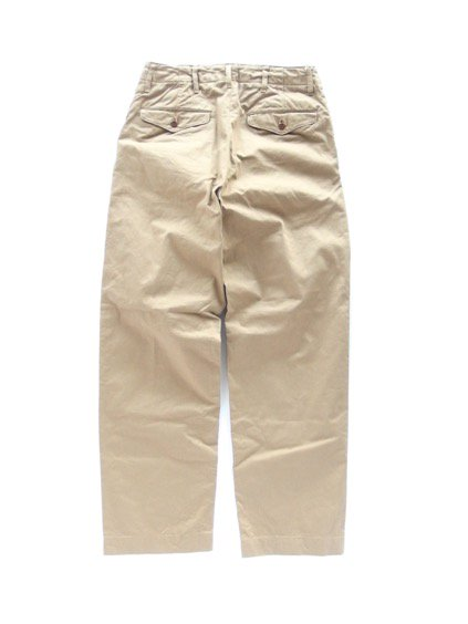 A VONTADE TYPE45 CHINO TROUSERS -WIDE FIT- (BEIGE)4
