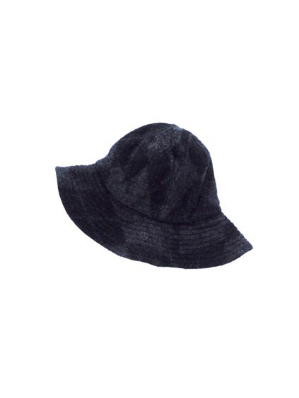 Engineered Garments Mountain Hat-Argyle Wool Dobby-  (CHARCOAL)