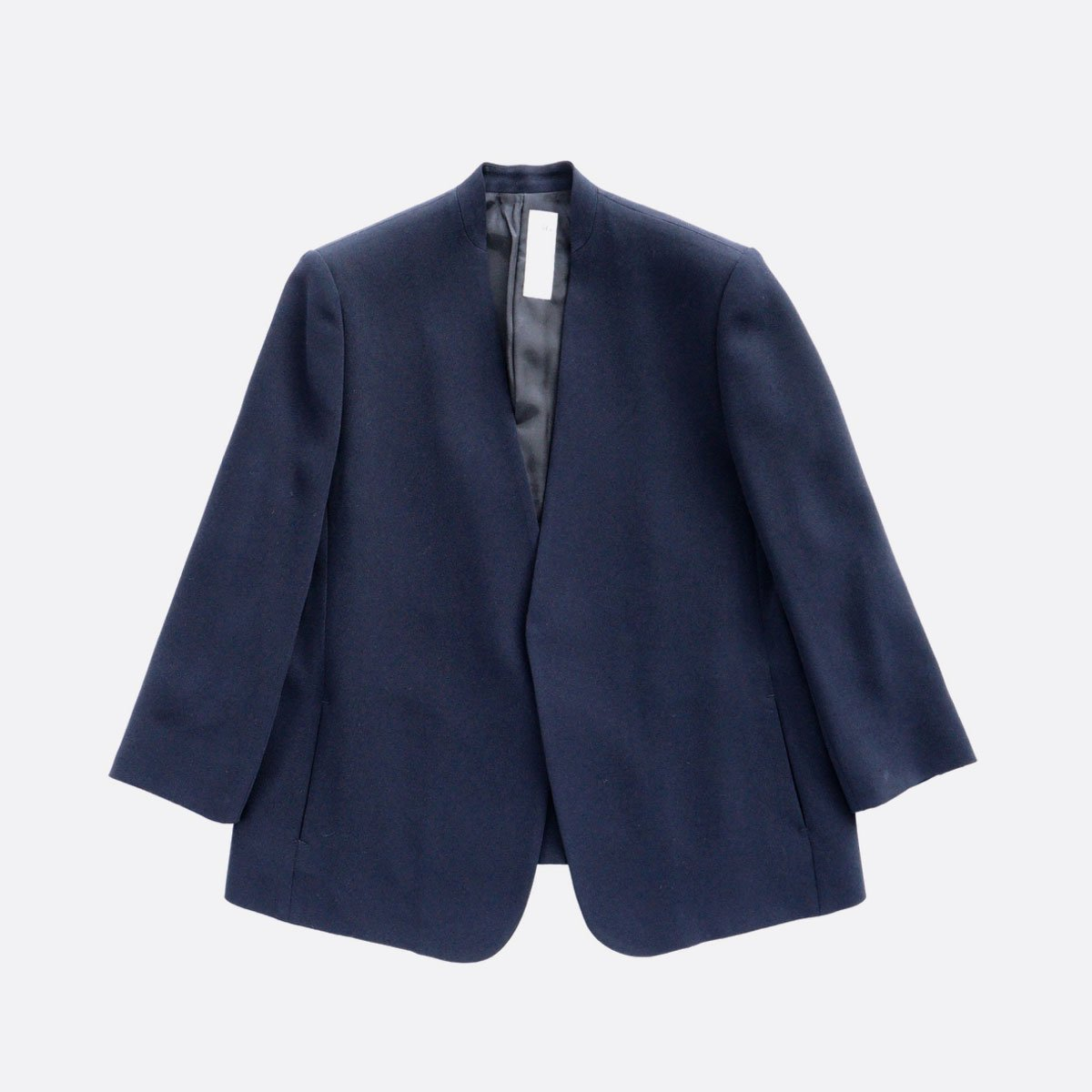 NO CONTROL AIR ACETATE & POLYESTER DOUBLE CROTH NO COLOR JACKET (NAVY)