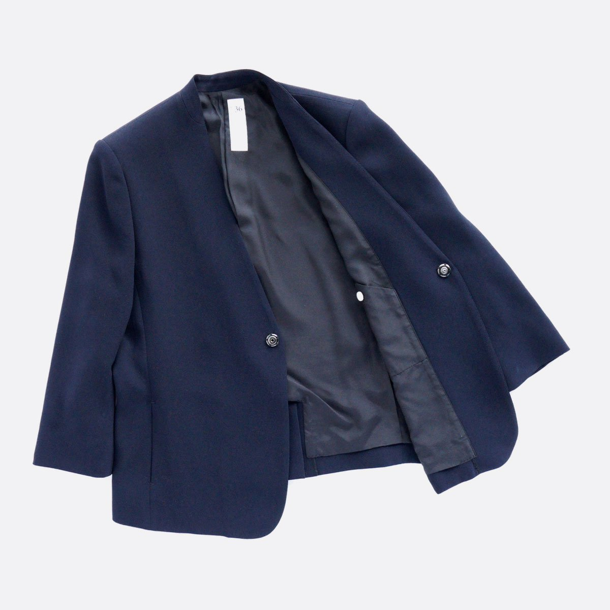 NO CONTROL AIR ACETATE & POLYESTER DOUBLE CROTH NO COLOR JACKET (NAVY)4
