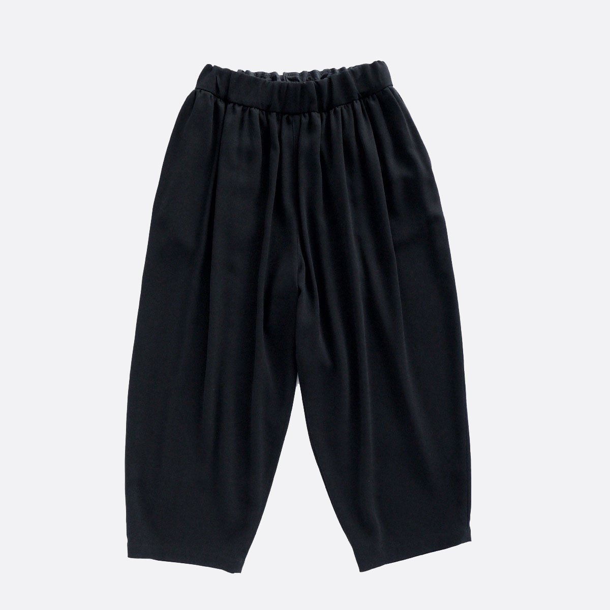 NO CONTROL AIR ACETATE & POLYESTER DOUBLE CLOTH WIDE EASY PANTS (black)