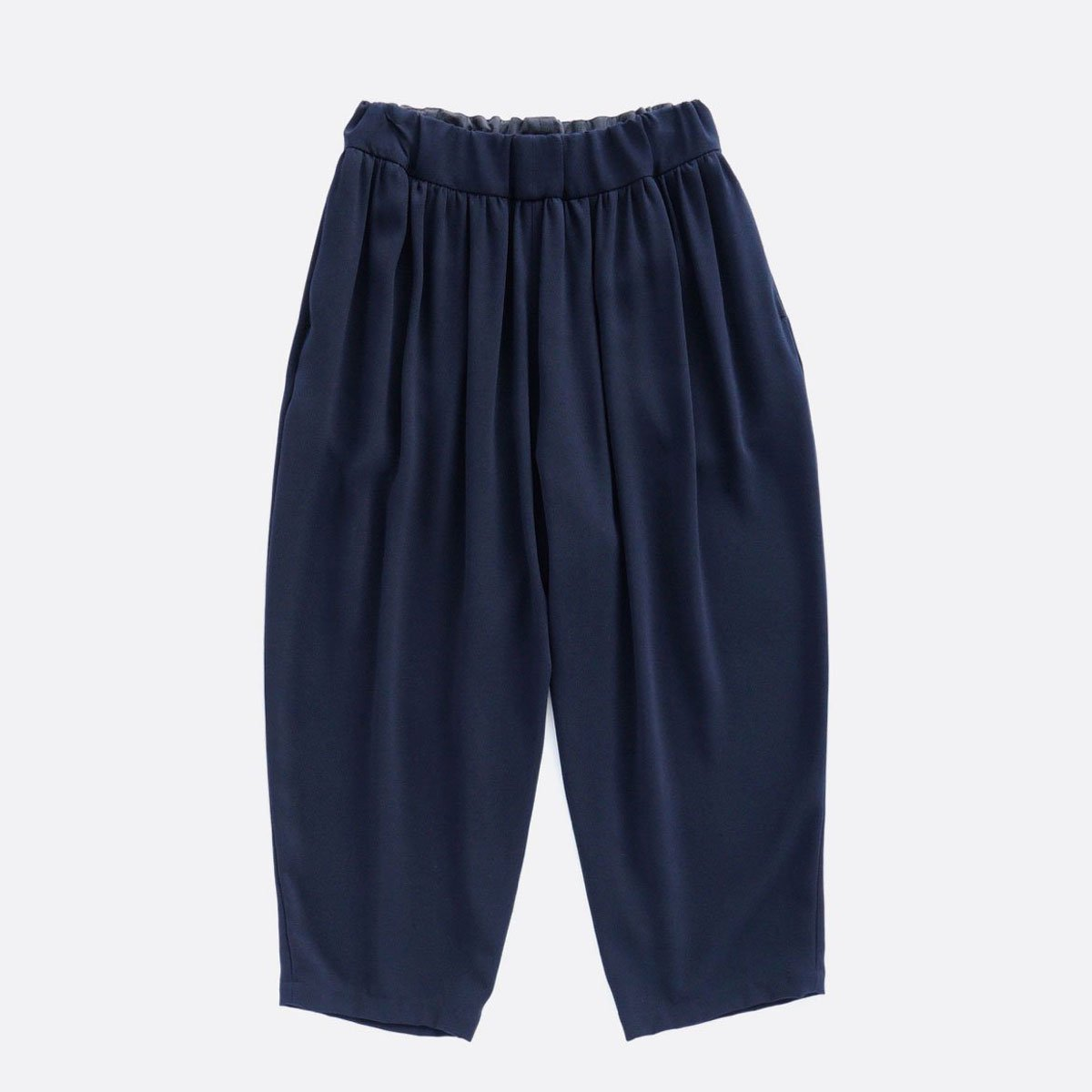 NO CONTROL AIR ACETATE & POLYESTER DOUBLE CLOTH WIDE EASY PANTS (navy)