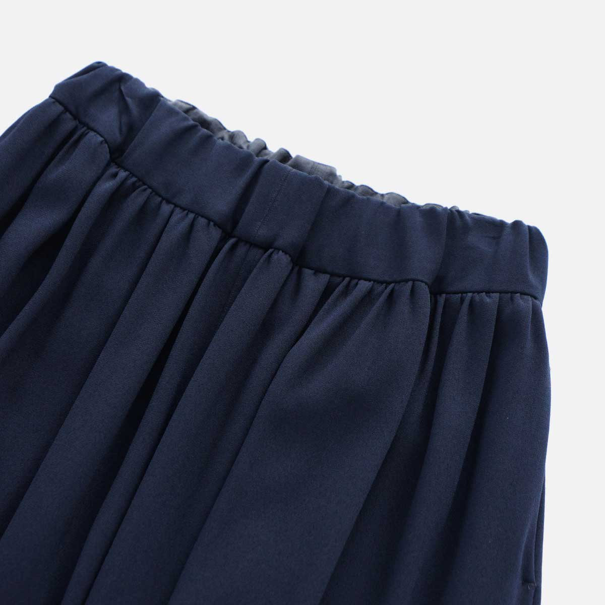 NO CONTROL AIR ACETATE & POLYESTER DOUBLE CLOTH WIDE EASY PANTS (navy)3