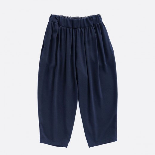 ACETATE & POLYESTER DOUBLE CLOTH WIDE EASY PANTS