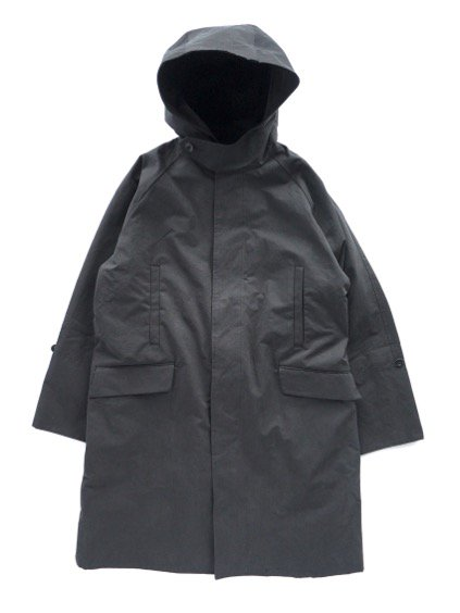 A VONTADE HOODED OVERCOAT (BLACK)