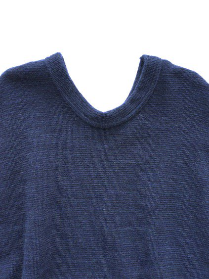 NO CONTROL AIR WOOL TOP BLOCK KNIT ONE PIECE  (navy top)2