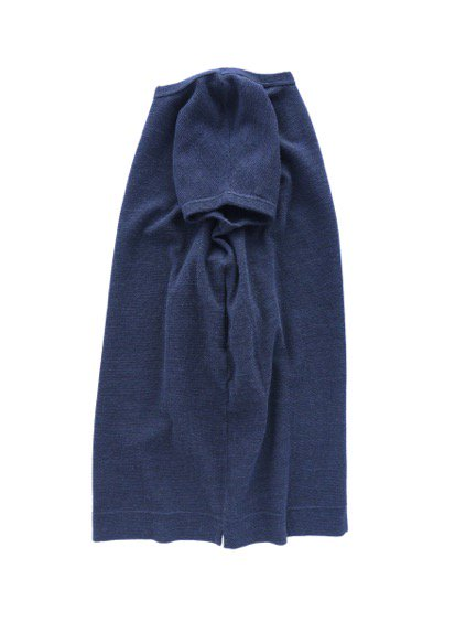 NO CONTROL AIR WOOL TOP BLOCK KNIT ONE PIECE  (navy top)3