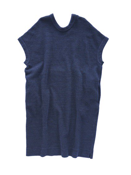 NO CONTROL AIR WOOL TOP BLOCK KNIT ONE PIECE  (navy top)4