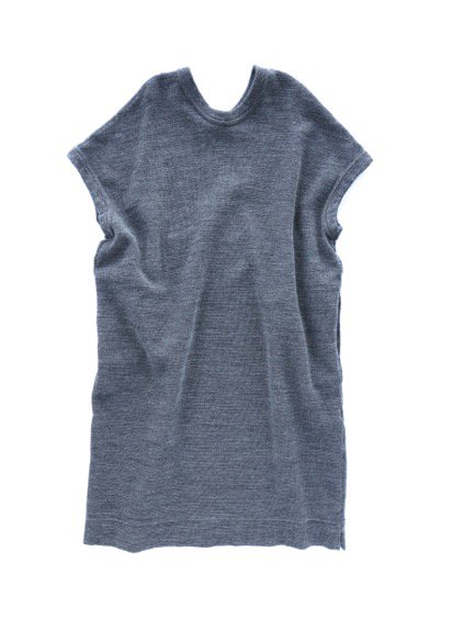 NO CONTROL AIR WOOL TOP BLOCK KNIT ONE PIECE  (gray top)