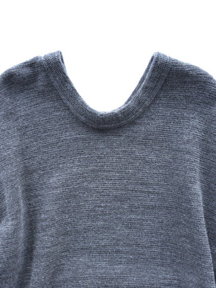 NO CONTROL AIR WOOL TOP BLOCK KNIT ONE PIECE  (gray top)2