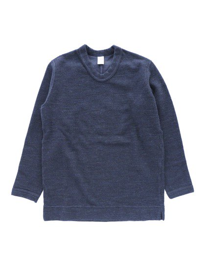 NO CONTROL AIR WOOL TOP BLOCK KNIT  (navy top)