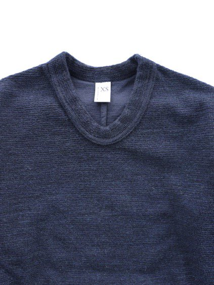 NO CONTROL AIR WOOL TOP BLOCK KNIT  (navy top)2