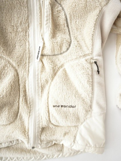 and wander high loft fleece jacket (off white)4