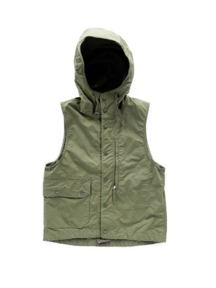 Engineered Garments FIELD VEST -NYLON COTTON RIPSTOP- (OLIVE)